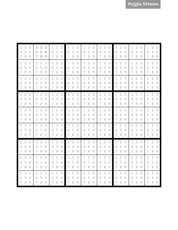 Blank Sudoku Template 8 sudoku templates free sample example – Blank Sudoku Worksheet