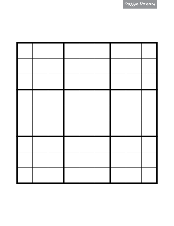 image relating to Printable Sudoku Grid identify Blank Sudoku Grid for Obtain and Printing - Puzzle Flow